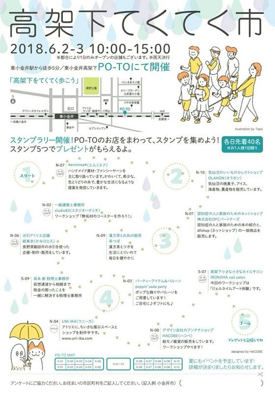6月2日/3日 PO-TOでイベント開催!「高架下てくてく市」